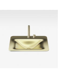 Armani Roca Baia – Раковина встраиваемая сверху 66 см, matt gold (3270C6R82)