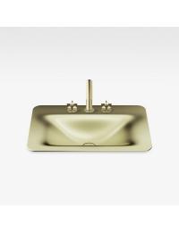 Armani Roca Baia Раковина встраиваемая сверху 66 см с 3 отв., shagreen matt gold