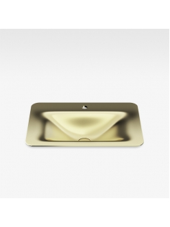 Armani Roca Baia – Раковина встраиваемая сверху 66 см, matt gold (3270C2R80)