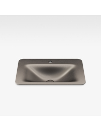 Armani Roca Baia Раковина встраиваемая сверху 66 см с 1 отв., shagreen dark metallic