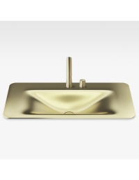 Armani Roca Baia Раковина встраиваемая сверху 90 см с 2 отв., matt gold
