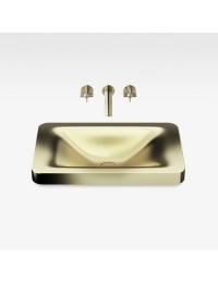 Armani Roca Baia Раковина встраиваемая сверху с бортиком 66 см., matt gold