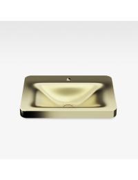 Armani Roca Baia Раковина встраиваемая сверху с бортиком 66 см с 1 отв., matt gold