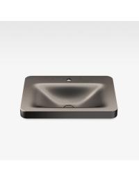 Armani Roca Baia Раковина встраиваемая сверху с бортиком 66 см с 1 отв., shagreen dark metallic