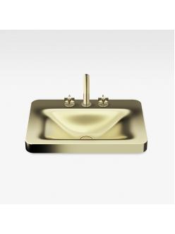 Armani Roca Baia – Раковина встраиваемая сверху 66 см, matt gold (3270C6R83)
