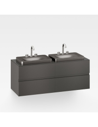 Armani Roca Baia Тумба подвесная с 2 раковинами с бортиком и 4 ящиками 155,4 см