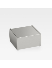 Armani Roca Island Держатель для туалетной бумаги с крышкой, brushed steel