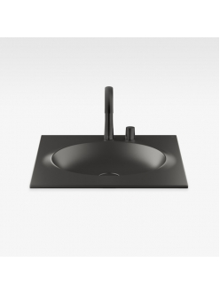 Armani Roca Island 327761R50 – Раковина встраиваемая сверху 65 см, цвет nero