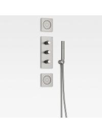 Armani Roca Island Комплект встраиваемой душевой системы, brushed steel