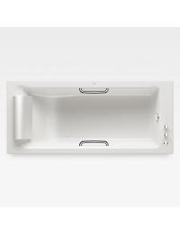 Armani Roca Island Встраиваемая ванна 180 см с термостатом, glossy white/хром