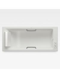 Armani Roca Island Встраиваемая ванна 180 см с термостатом, off-white/хром