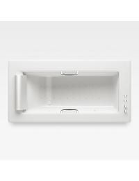 Armani Roca Island Встраиваемая ванна 214,5 см с аэромассажем, glossy white/хром