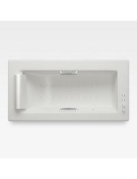 Armani Roca Island Встраиваемая ванна 214,5 см с аэромассажем, off-white/хром