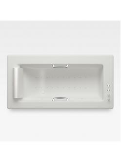 Armani Roca Island 248200911 – Встраиваемая ванна 214,5 см с аэромассажем, цвет off-white/хром