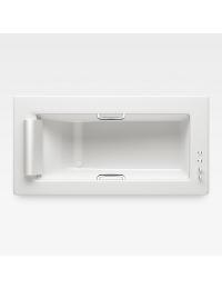 Armani Roca Island Встраиваемая ванна 212 см с термостатом, glossy white/хром