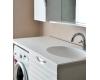 АТОЛЛ БАВАРИЯ – Мебель под стиральную машину, белый глянец, столешница - камень