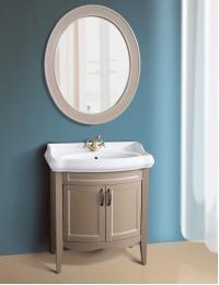 Атолл Неаполь Серо-бежевый Комплект мебели для ванной, патина - слоновая кость