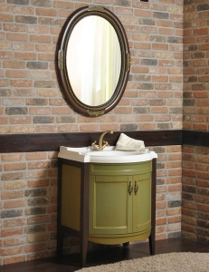Атолл Неаполь Verde Комплект мебели для ванной, Зеленый