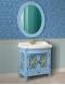 Атолл Ретро Blue Комплект мебели для ванной, голубой с серебряной патиной