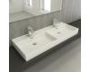 Bocchi Milano 1393-001-0126 Раковина накладная двойная, белый глянец 001