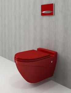 Bocchi Taormina Arch 1012-019-0129 Унитаз подвесной Глянцевый красный