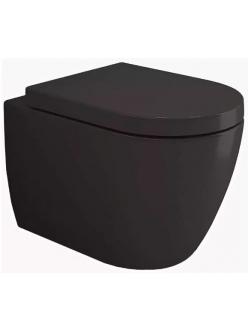 Bocchi Venezia Rimless 1295-004-0129 Унитаз подвесной, черный матовый 004