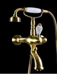 Boheme Crystal Bronze 303-CRST Смеситель для ванны, душевой комплект