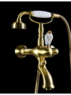 Boheme Crystal 303-CRST Смеситель для ванны с ручным душем (Бронза)