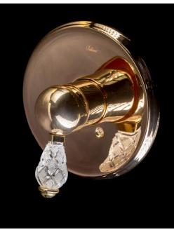 Смеситель для раковины на 3 отверстия Boheme Crystal 285-CRST Золото