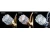 Boheme Crystal 291-CRST Смеситель для умывальника двуручковый (Золото)