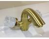 Boheme Crystal 311-CRST Смеситель для умывальника двуручковый (Бронза)
