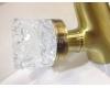 Boheme Crystal 312-CRST Высокий двуручковый смеситель для умывальника (Бронза)