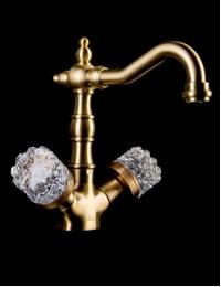 Boheme Crystal Bronze 312-CRST Смеситель для умывальника, высокий