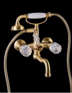 Boheme Crystal Bronze 313-CRST Смеситель для ванны, душевой комплект