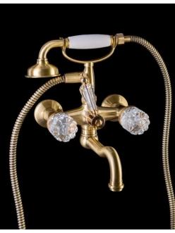 Boheme Crystal 313-CRST Смеситель для ванны с ручным душем (Бронза)