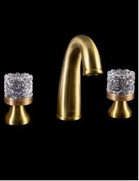 Boheme Crystal Bronze 317-CRST Смеситель для раковины на 3 отверстия