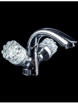 Boheme Crystal 271-CRST Смеситель для умывальника двуручковый (Хром)