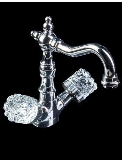 Boheme Crystal 272-CRST Высокий двуручковый смеситель для умывальника (Хром)