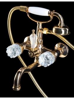 Boheme Crystal 293-CRST Смеситель для ванны с ручным душем (Золото)