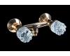 Boheme Crystal 294-CRST Смеситель для душа двуручковый (Золото)