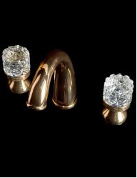 Boheme Crystal Gold 297-CRST Смеситель для раковины на 3 отверстия