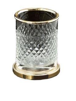 Boheme Crystal 10218-G Стакан настольный для ванной комнаты (Золото)