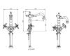 Boheme Flora 312-FL Высокий двуручковый смеситель для умывальника (Бронза)
