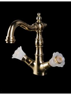 Boheme Camelia 292-Camelia Высокий двуручковый смеситель для умывальника (Золото)