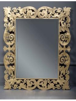 Boheme Caprice 562 Зеркало с подсветкой в багетной раме (серебро поталь)
