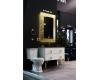 Boheme Chelsea 554 Зеркало с подсветкой в багетной раме (золото поталь)