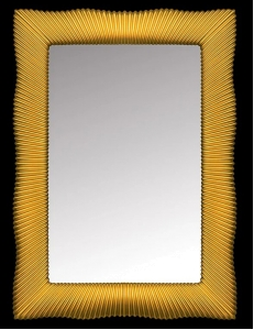 Boheme Soho 563 Зеркало с подсветкой, золото