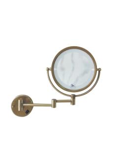 Boheme Medici 501 Косметическое настенное зеркало с оптическим увеличением +3x (Бронза)