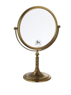 Boheme Medici 502 Косметическое настольное зеркало с оптическим увеличением +3x (Бронза)