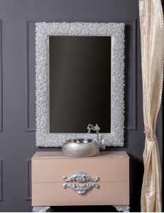 Boheme Rose 547 Зеркало 85 см, серебро